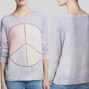 WILDFOX Peace & Tie Dye Baggy Sweatshirt - Sz S